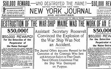 Image result for spanish american war yellow journalism