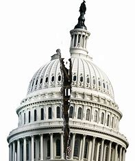 Image result for cartoon images of a cracked, worn Capitol