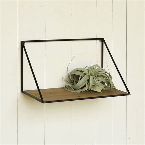 small hull wood and iron shelf by homart seven colonial
