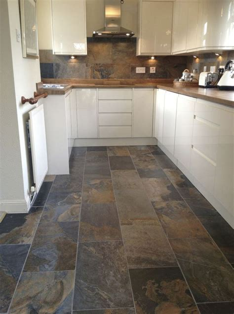 best slate floor tile kitchen ideas diy design decor
