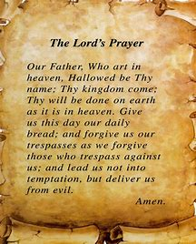 Image result for the lords prayer