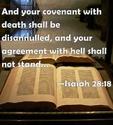 Image result for COVENANT OF DEATH AGREEMENT OF HELL