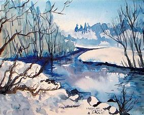 Image result for simple landscape watercolour