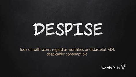 Image result for despise