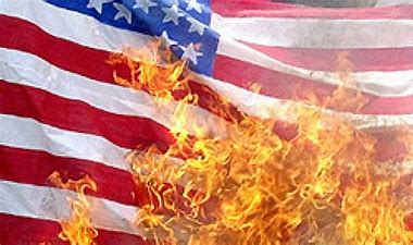 Image result for images of students burn american flag