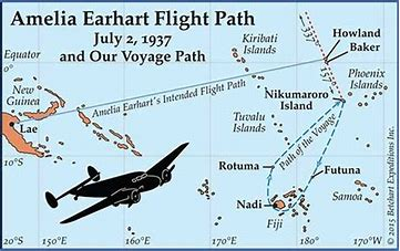 Image result for amelia earhart search area