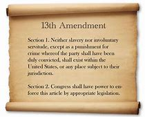 Image result for 13th amendment