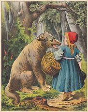 Image result for Gothic Red Riding Hood fairytale