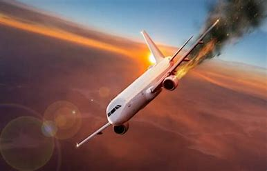 Image result for plane on fire sky