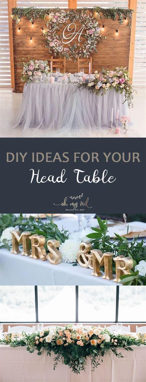 diy ideas for your head table head table tips and tricks