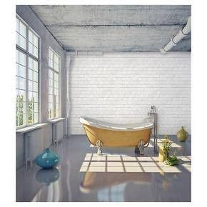 devine color textured brick peel stick wallpaper white
