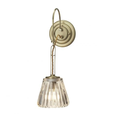 decorative single bathroom wall light in brushed brass