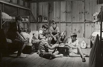 Image result for images 50s camp boys in cabins