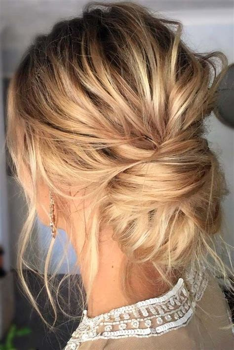 photo of wedding updos for long thin hair