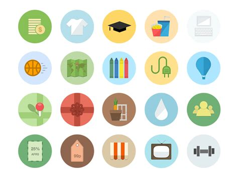 best examples of modern flat icon set mkels com