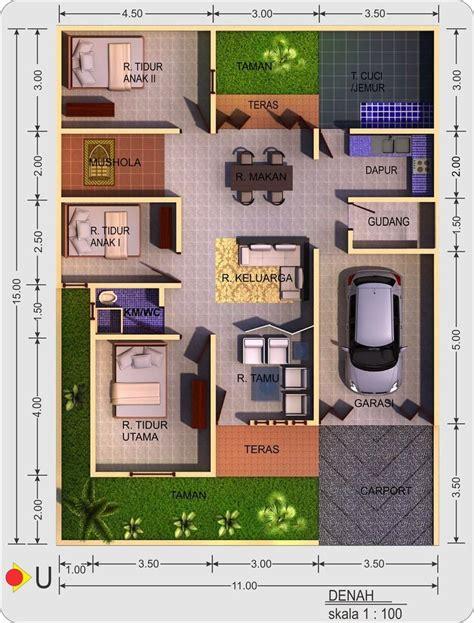 desain denah rumah minimalis terbaru house in