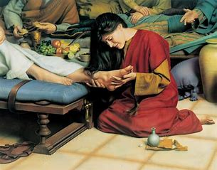 Image result for royalty free picture of mary washing jesus feet
