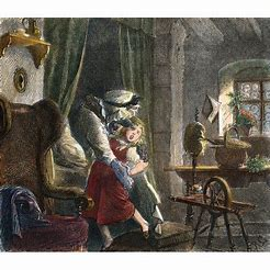 Image result for images little red riding hood 19th century
