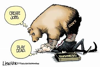 Image result for caricatures government programs