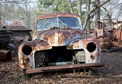 Image result for junk car  sitting in a corn field
