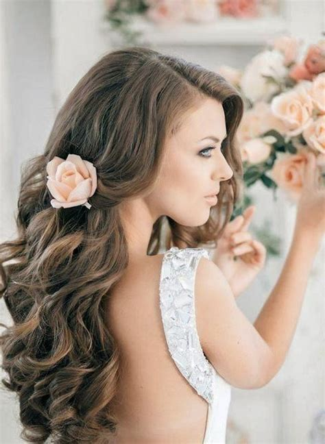 long curls hairstyles for weddings you can do at home