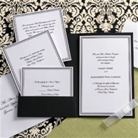 diy wedding invitations black and white with pocket huge