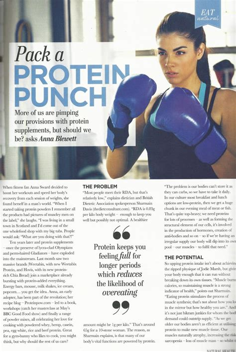 protein pow in magazines