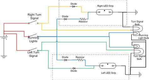 wiring flexible led strip to turn signal