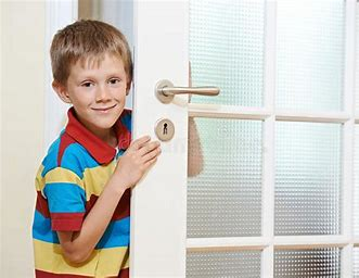 Image result for royalty free picture of child opening door