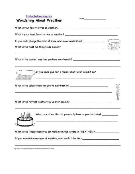 WEATHER WORKSHEET NEW WORKSHEETS ON WEATHER FOR GRADE