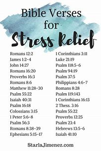 Image result for Bible verse on stress