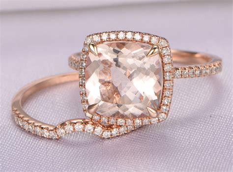 morganite engagement ring setk rose gold morganite