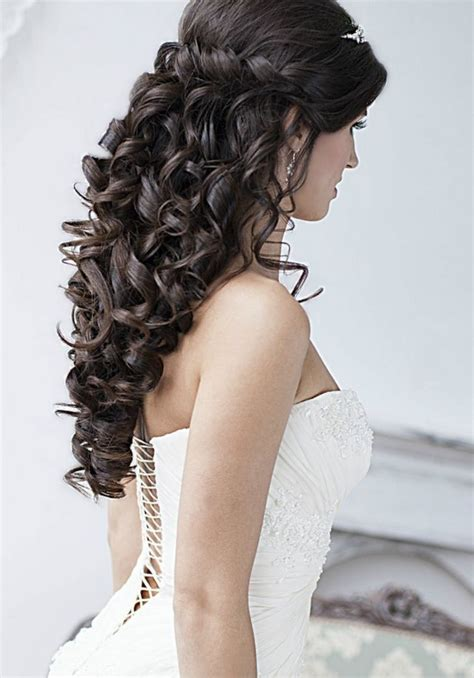 most stylish wedding hairstyles for long hair curly