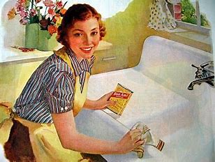Image result for image frazzled housewife scrubbing the sink