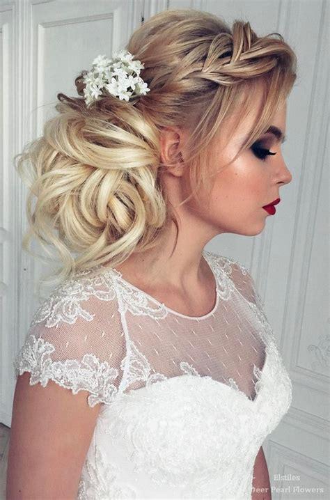 best wedding hairstyles for long hair deer pearl flowers
