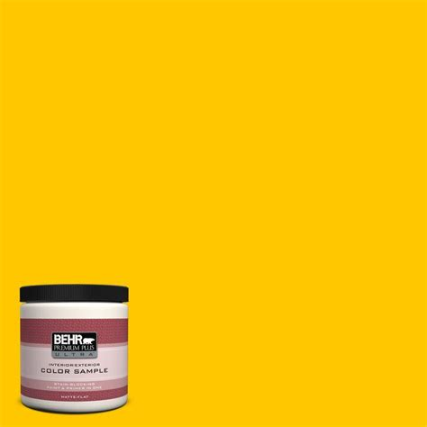 behr premium plus ultra oz b yellow flash matte