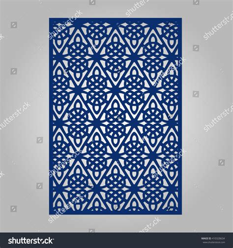 abstract cutout panel for laser cutting stock vector