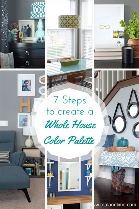 steps to create your whole house color palette house
