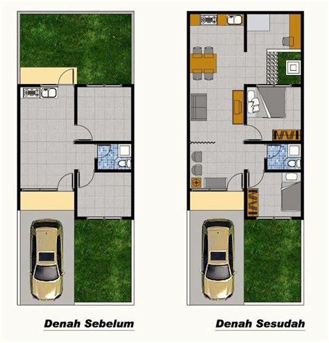 denah rumah type renovasi denah rumah renovasi rumah
