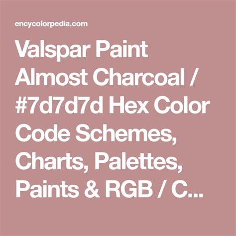 valspar paint almost charcoal ddd hex color code