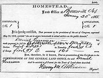 Image result for homestead act