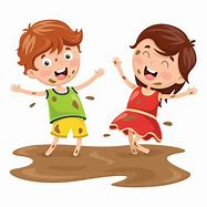 Image result for kid playing in the mud cartoon