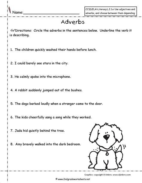 best images of adjectives worksheets for grade free