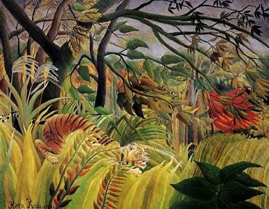 Image result for rousseau jungle painting
