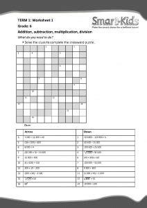 grade maths worksheet the four operations smartkids