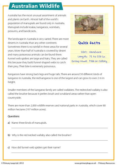 free australia new zealand worksheets