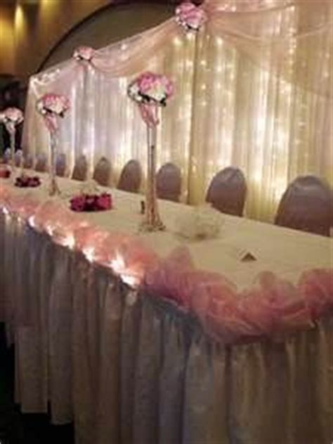 wedding reception head table setup set up to be very