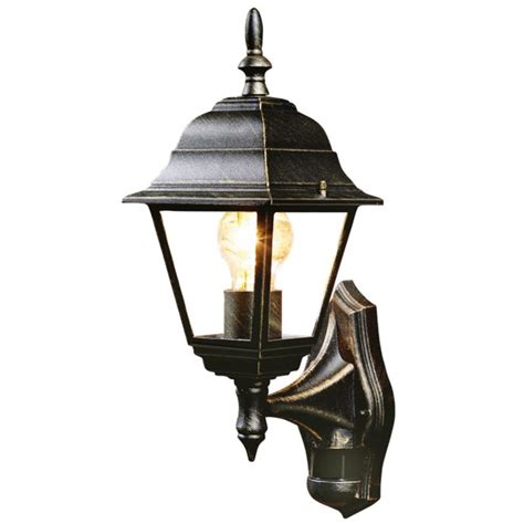 b q penarven outdoor wall light in black and gold wall