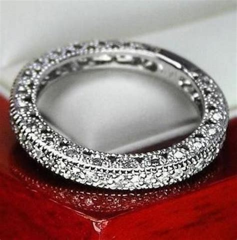 unique vintage genuine diamond wedding band ring for women