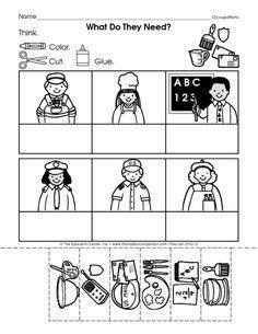 image result for occupation worksheet for preschool
